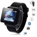 Touch Screen Watch Cell Phone i5 1.75 inch Java FM Single Card Black MP3 MP4